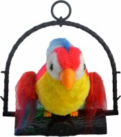 Shop4everything Talk Back Parrot (Red, Yellow)