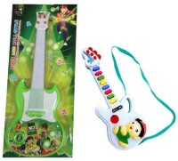 Shop & Shoppee Combo Of Ben 10 & Musical Button Guitars (Multicolor)