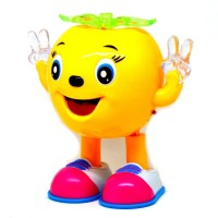 Littlegrin Musical Cartoon Dancing & Walking PineApple With Colorful Lights Gift Toy For Kids (Multicolor)