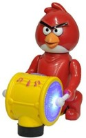 Sahibuy Bird Space Musical Drummer With Light Toy (Red)