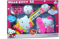 Hello Kitty Beautiful Guitar Telephone Toy Mobile Phone Gift Set For Girls Age 3+ (Multicolor)