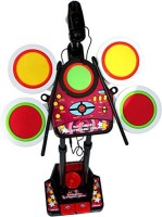 Dinoimpex Electronic Junior Jazz Drum Beat Set With Mp3 Plug-In + Microphone + Pedal Mechanism + Adjustable Heights (Multicolor)