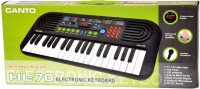 A M Enterprises Black 37 Keys Musical Electronic Piano Keyboard Player (Black)