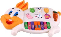 Happy Rabbit Musical Piano For Kids (Multicolor)