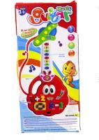 ToyTree Cartoon Shape Guitar With Color & Number Learning Activity (Red)