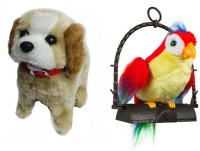 FairToys Combo Of Fantastic Puppy And Talk Back Parrot (Multicolor)