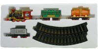 Gifts & Arts Battery Operated Light Sound Smoke ChooChoo Classical Train Track Set For Kids (Multicolor)