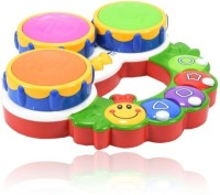 Dolphin Gallery Educational Learning Musical And Lights Caterpillar Drum (Multicolor)