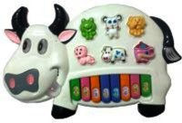 Turban Toys Musical Cow Piano Keyboard (Multicolor)