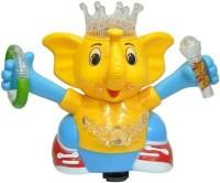 Zaprap Multi Color Musical Dancing Elephant Toy For Kids (Multicolor)