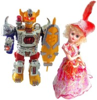 Shop & Shoppee Combo Of Musical Robot & Dancing Doll (Multicolor)