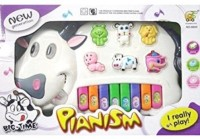 Shop & Shoppee Musical Cow Piano Keyboard Toy Game (Multicolor)