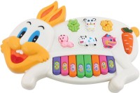 Funny Bunny Musical Rabbit Piano With Flashing Light Toy Gift For Kids (Multicolor)