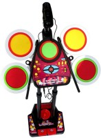 Turban Toys Hot Selling Electronic Junior Jazz Drum Beat Set With Mp3 Plug-In + Microphone + Pedal Mechanism + Adjustable Heights (Multicolor)