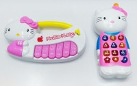 Gift World Hello Kitty Piano Light/Music Funny Musical Play - 2 Pcs/Set (Multicolor)
