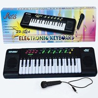 Saleonindia 32 Keys Electronic Keyboard With Mike (Multicolor)