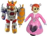 New Pinch Combo Of Dancing Robot Beat The Megnum With princess Doll For Kids (Multicolor)
