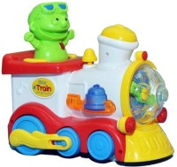 Prro Fun Train Engine With Flashing Light And Sound Effects (Multicolor)
