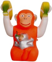 A M Enterprises Multicolour Moving & Jumping Monkey Musical Toy (Multicolor)