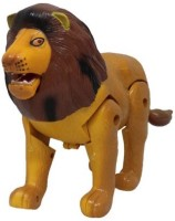 Turban Toys Battery Operated Musical Lion With Light, Bump And Go Action (Multicolor)