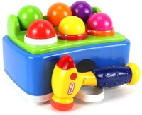 Imported Hammer Table Ball Pounding Toy Bench Play Set (Multicolor)
