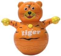 RVOLD Musical Roly Poly Tiger With Projector Lighting Gift Toy (Multicolor)