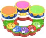 A R Enterprises Musical Instruments & Toys A R Enterprises Multicolor Plastic Caterpillar Shaped Toy Drum