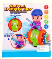 RIANZ Small Infantry Educational Dancing Toy With Lights And Music For Kids (Color May Vary) (Yellow)