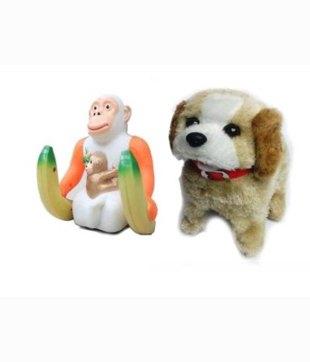 V.T. Musical Instruments & Toys V.T. Funny Jumping Monkey And Fanstastic Puppy