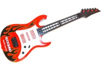 E-Toys Musical Guitar With Light And Sound (Red, Black, White)