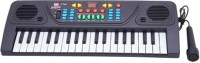 Dinoimpex Dino 37 Keys Musical Electronic Keyboard Organ With Mic Melody Mixing (Black)