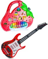 New Pinch Strawberry Shaped Animals Sound Piano With Musical Guitar With Light And Sound (Multicolor)