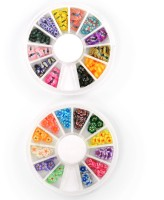 SPM Combo Of Nail Art Butterfly Pastings Kit (Multicolor)