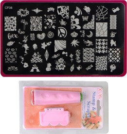 Imported Nail Art Stamping Kit Large Image Plate CF08