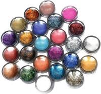 Arip 12 Color Flocking Velvet Powder & Nail Art Glitter (Multicolor)
