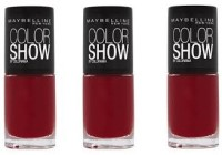 Maybelline Color Show Nail Polish Pack Of 3 6 Ml (Downtown Red)
