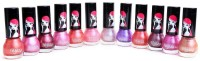 Foolzy Pack Of 12 Nail Polish Paint 72 Ml (LIGHT1)