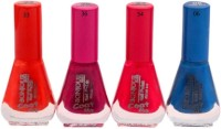 Bonjour Paris Exceptional Nail Polish (Set Of 4) 20 Ml (Marmalade, Plum Desire, French Red, Moody Blue)