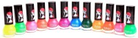 Foolzy Pack Of 12 Nail Polish Paint 72 Ml (Neon)