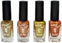 Aroma Care Ar St 09 Nail Polish Set 39.6 Ml (Silver, Golden, Golden, Orange)