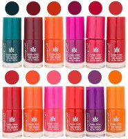 Aroma Care Dhamaka Offer For Retailer - Gel Based Nail Polish At Wholesale Price(Set Of 12 Pcs, 72 Ml) 72 Ml (Green, Brown, Orange, Pink, Purple, Red, Red, Orange, Pink, Red, Purple, Orange)