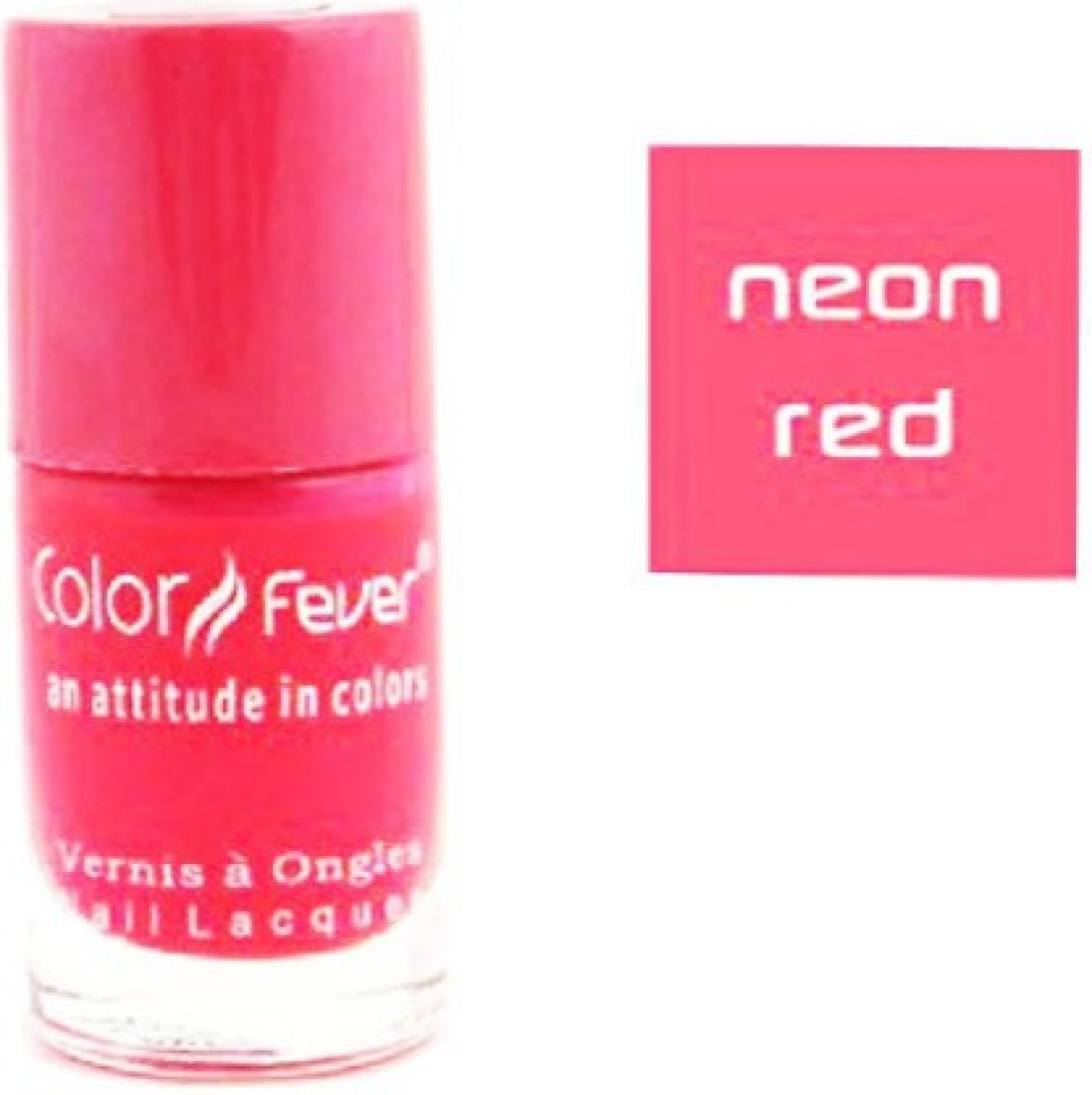 Color Fever Neon Red Nail