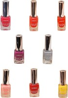 Lorenza Combo Set-29 Nail Lacquer (Pack Of 8) 15 Ml (Hello Yellow-250, My Bebe-310, Bombshell-340, For A Change-421, This Is It-455, Party Time-550, Mauved-641, Grey Shades-911)