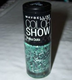 Maybeline New York New Color Show Nail Lacquer Polka Dots -55 Drops of Jade 15 ml