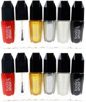 Foolzy Set Of 12 Nail Polish 120 Ml (Multicolor DM-12-12)