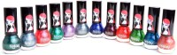 Foolzy Pack Of 12 Nail Polish Paint 72 Ml (Magic)