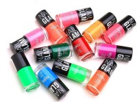Foolzy Pack Of 12 Nail Polish Paint 72 Ml (Neon Multicolour)