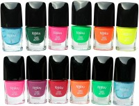 Foolzy Pack Of 12 Neon Nail Polish 96 Ml (Multicolor)