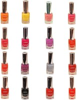 Lorenza Combo Set-2 Nail Lacquer (Pack Of 16) 15 Ml (Hellow Yellow-250, Sunflower-262, Pretty-320, Pink Redefined-327, Sinful-360, Vibrant-375, For A Change-421, This Is It-455, Las Veaas-472, Rrred-515, Party Time-550, Cherry-566, Mauved-641, Excuse Me-6