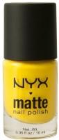 NYX Matte Nail Polish 10 Ml (Matte Yellow)